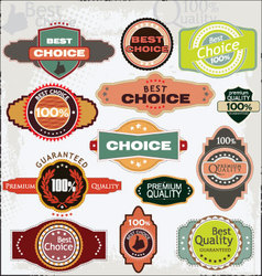 Retro quality labels vector