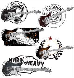 Pure rock stamp set vector