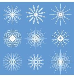 Snowflakes ornament set vector