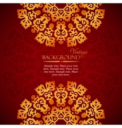 Elegant mandala indian invitation template vector