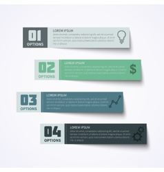 Abstract paper infographic elements vector