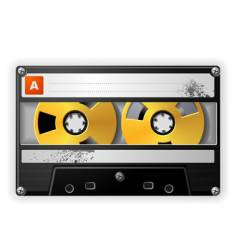 Audio tape cassette vector