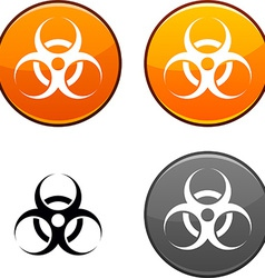 Virus button vector