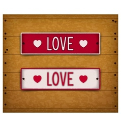 Two car plates - love vector