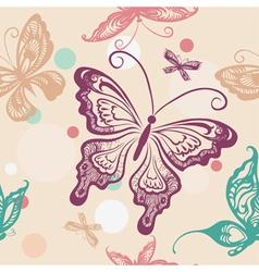 Seamless pattern with butterflies vector