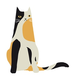 Calico cat character vector