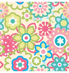 Seamless flower pattern vector