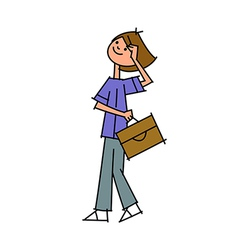 Close-up of boy holding bag vector
