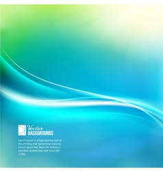 Blue sky with glowing rays and lines vector