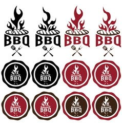 Vintage labels of bbq vector