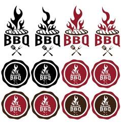 Vintage labels of bbq vector