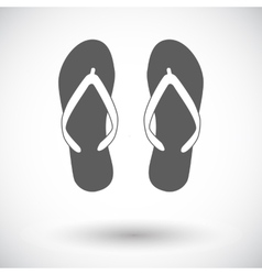 Beach slippers vector