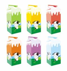 Carton milk boxes vector