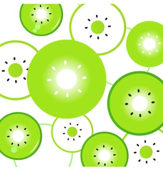 Kiwi fruit slices vector