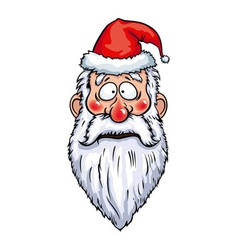 Santa claus surprised head vector