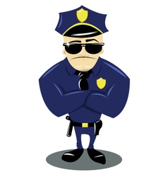 Policeman and white background vector