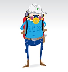 Industry worker uniform vector