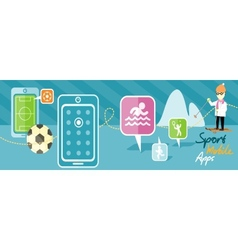 Sports theme and applications vector