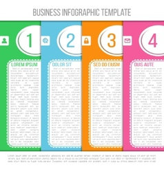 Bright infographic template suitable for business vector