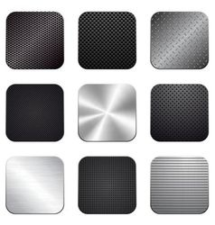 Apps metal-carbon icon set vector