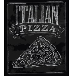 Chalk pizza vector