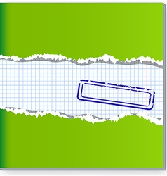 Damaged copybook vector