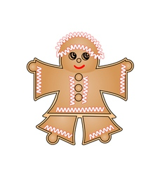 Woman gingerbread vector