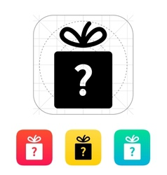 Secret gift icon vector