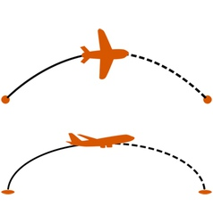 Airplane route vector