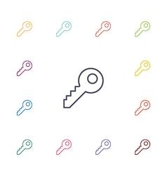 Key flat icons set vector