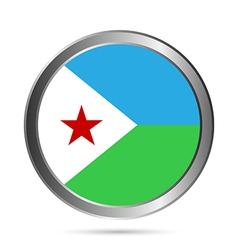 Djibouti flag button vector