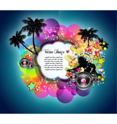 Tropical music disco event vector