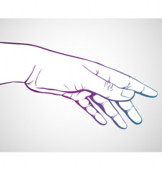 Hand reaching vector