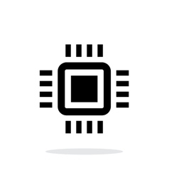 Mini cpu simple icon on white background vector