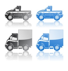 Pickup and small truck vector