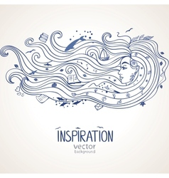 Girl inspiration vector