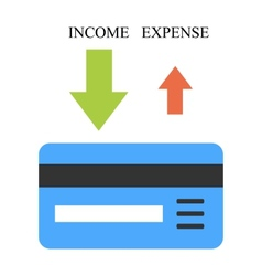 High income and low expense vector