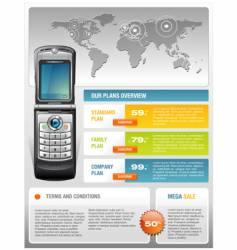 Mobile phone ad template vector