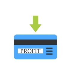 Bank card with profit coming vector