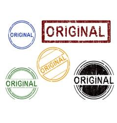 5 grunge stamps original vector