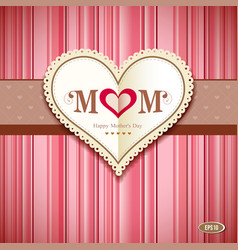 Happy mothers day greeting card vector