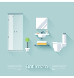 Bathroom cover vector