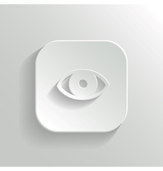 Eye icon - white app button vector