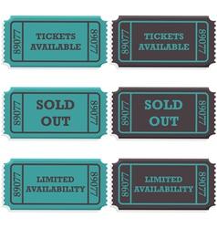 Ticket availability vector