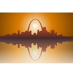 St louis city sunset vector