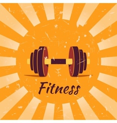 Vintage fitness poster background vector
