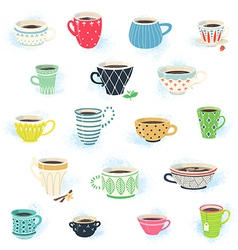 Clip art tea and coffee cup collection vector