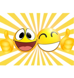 Emoticon with thumb vector