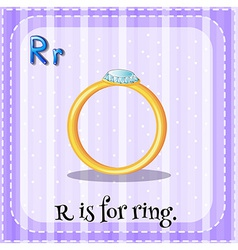 A letter r for ring vector