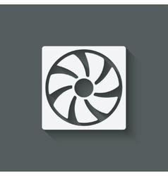 Fan design symbol vector